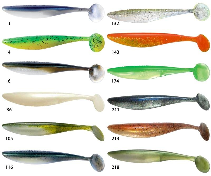 "Lunker City 5/"" SwimFish Soft Plastic Baits Lures"