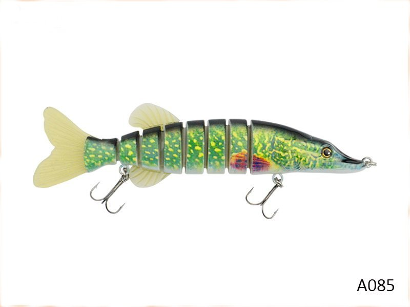 2 Jointed pike lures as photo