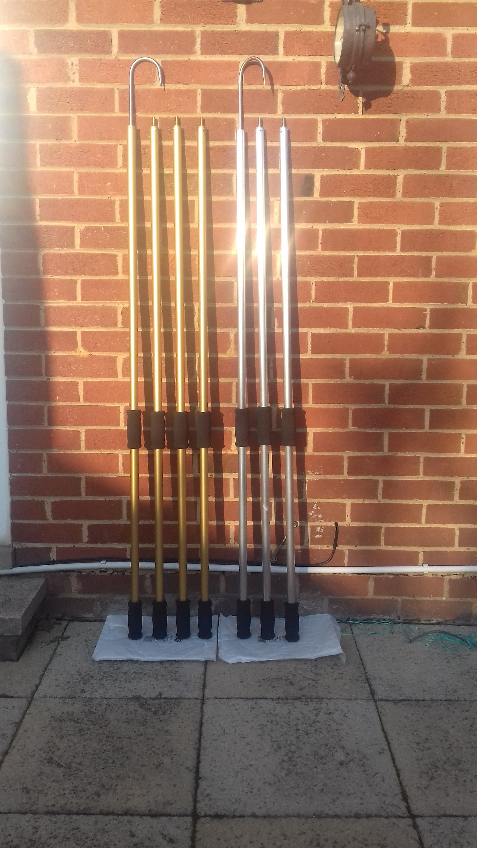 Extendable Gaff - 15ft 3 Piece + 1 x 5ft extension (SBK.Gaff15B) Gold Anodised
